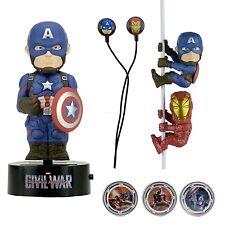 Marvel - Captain America Gift Set - Scalers Hubsnaps Body Knocker & Earbuds NECA