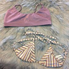 Lot Of 2 Zulu & Zephyr And Dbrie Bikini Tops Size