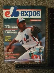 1991 Montreal Expos Program Expos Dennis Martinez September Volume 5 #6
