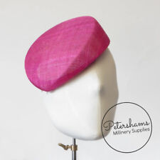 'Betty' Sloped Pillbox Sinamay Fascinator Hat Base for Millinery & Hat Making