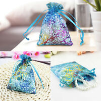 50PCS Coralline Drawstring Organza Jewelry Pouch Wedding Party Favor Gift Bag SM