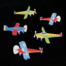 NEW Pottery Barn Kids Vintage Airplane Planes Brody Wallies Wall Cutouts Decals