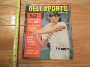 Boston Red Sox Yaz Carl Yastrzemski Dell Sport Magazine 1968