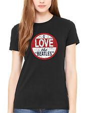 Official The Beatles I Love The Beatles Women's T-Shirt Lennon McCartney Ringo