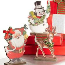 """NEW Raz 10"""" LED Lighted Standing Christmas Wooden Cutout Decoration  3919150"""