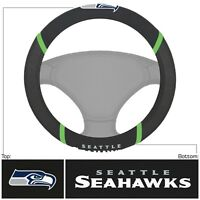New NFL Seattle Seahawks Car Truck Embroidered Steering Wheel Cover