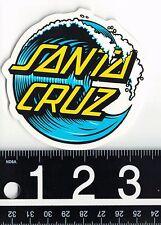 SANTA CRUZ SKATEBOARDS STICKER Santa Cruz Wave Dot 3 in Round Surf Sticker