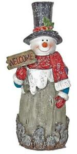 Xmas Snowman Ornament Red Scarf 22cm Indoor Christmas Decoration