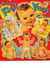 Vintage Uncut 1945 Baby'S First Year Paper Dolls~#1 Reproduction~Extremely Rare!