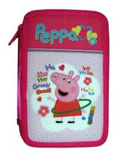 Peppa Pig Deluxe 3 Tier Zipped Pen & Pencil Case 46 Piece School Set