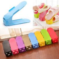Portable Adjustable Double Deck Shoes Rack Slots Home Organizer Storage Holder
