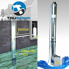 2HP Deep Well Pump 400FT 35GPM 220V Submersible Stainless Steel w/ Control Box S