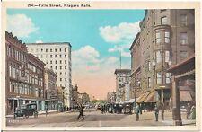 Scene on Falls Street in Niagara Falls NY Postcard