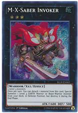 3X M-X-Saber Invoker - BLLR-EN063 - Secret Rare - 1st Edition