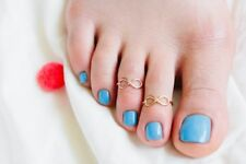 Infinity Toe Ring Gold - Beach Summer Fashion Celebrity **SALE**