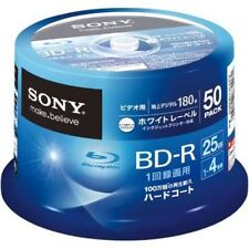 NEW 50 Sony Bluray Discs BD-R DVD HD 25GB 4X Speed Inkjet Printable Bluray Discs