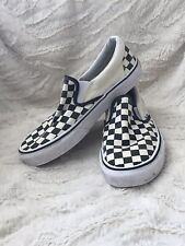 Vans slip on checkerboard Trainers Size 6 Black And White