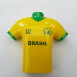 Brazil Football T-Shirt Design Pencil Sharpener Double Hole Shave Bin Kids Toys