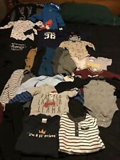 Baby Boy Clothes Lot 6-12 months • 21 Pcs includes Carters, Other Mixed Brands