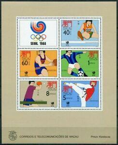 Macau 1988 Olympic Game in Seoul stamp S/S