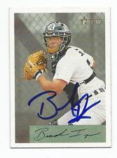 BRANDON INGE Autographed Signed 2002 Bowman Heritage card Detroit Tigers COA