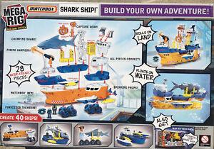 NEW! Matchbox Mega-Rig Shark Ship Play Set 2010 Mattel • FREE SHIPPING!
