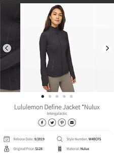 Lululemon Define Jacket Nulux Intergalactic 6 Small Eeuc