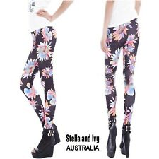 FLOWER PRINT TIGHTS AU WOMENS NEW