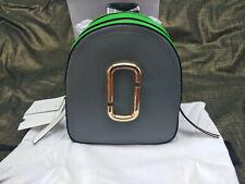 Genuine Marc Jacobs Pack Shot Color  Leather Backpack grey & green sales