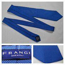 Frangi Mens Blue White Polka Dots Tie Necktie Luxury Silk Italy New 58L