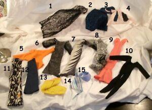 "1976 CHER 12"" mego ward doll -- DRESS JUMPSUIT SHIRT PANTS SHOES Magic Card"