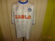 """Hertha bsc berlín nike saliente camiseta 2000/01 """"o. tel. o"""" + autografiada talla L nuevo"""