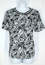 Hollister Hawaiian Top S Black White Ribbed Neck Hi Lo