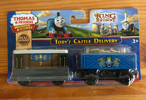 2013 Fisher Price Wooden Thomas Train Toby's Castle Delivery! NEW