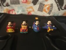 Vtg Disney Mickey Mouse Wind Up Vehicle Lot Fire Truck Airplane Submarine Car