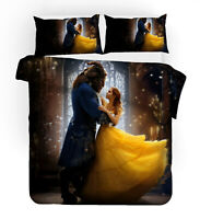 Beauty and the Beast Bella Bedding Set 3pcs Duvet Cover Pillowcase Quilt Cover