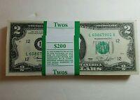 *RARE* NEW Uncirculated Consecutive Two Dollar Bill Crisp $2 Note  2013
