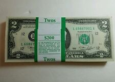 *RARE* NEW Uncirculated Consecutive Two Dollar Bill Crisp $2 Note  2013