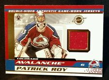 2002 PATRICK ROY JOSE THEODORE Pacific Double Sided AUTHENTIC GAME JERSEY CARD