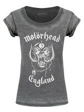 Motorhead T-shirt England Burnout Women's Grey