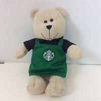 "Starbucks Coffee Holiday 2016 Bearista Bear Green Apron Limited Edition 10"""