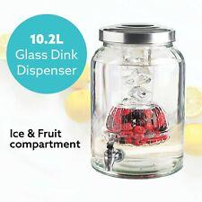 Cooper & Co. 10.2l Glass Beverage Dispenser Mason Jar Spigot Beer Soda Drink