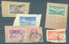 Ireland 1948-54 Air 5 values used on pieces
