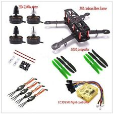 QAV250 3K Carbon Fiber Drone Quadcopter 2300 kv Brushless Motor 12A ESC CC3D Kit