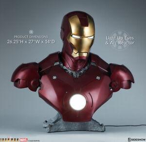 Marvel Iron Man Mark III Life Size Tony Stark Bust sideshow Collectible statue