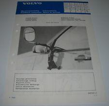 Einbauanleitung Volvo 440 460 480 Wohnwagen Spiegel Caravan Mirror April 1988!