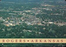 Aerial View of Rogers Arkansas, Home of Beaver Lake, Benton County AR - Postcard