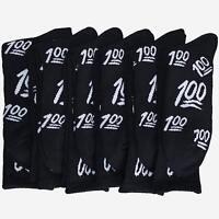 6 Pairs Weed Leaf Keep it 100 emoji White Black Streetwear Unisex Crew Socks