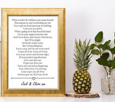 John Legend All Of Me lyric personalised gift a4 print valentines anniversary