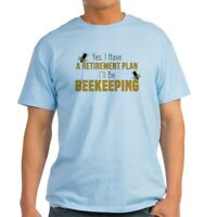 CafePress Beekeeper Retirement Light T Shirt 100% Cotton T-Shirt (240294942)